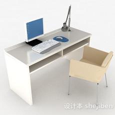 白色书桌3d模型下载