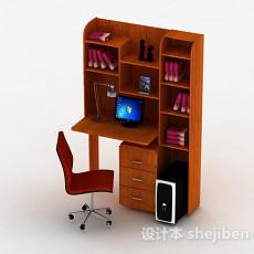 棕色书桌柜3d模型下载