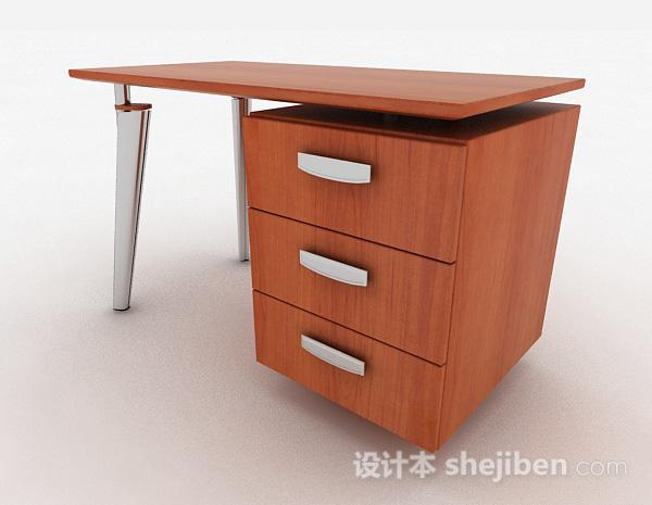 棕色木质办公桌