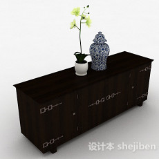 中式风格木质家具储物柜3d模型下载