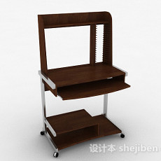 棕色书桌3d模型下载