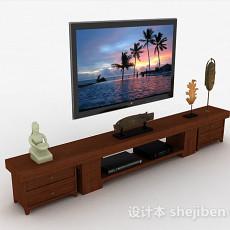 现代风格棕色组合电视柜3d模型下载