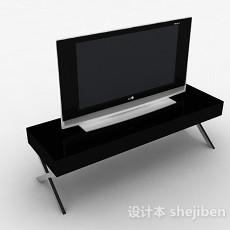 现代风格黑色电视剧3d模型下载