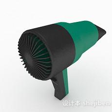 绿色吹风机3d模型下载