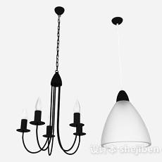 北欧风格吊灯3d模型下载