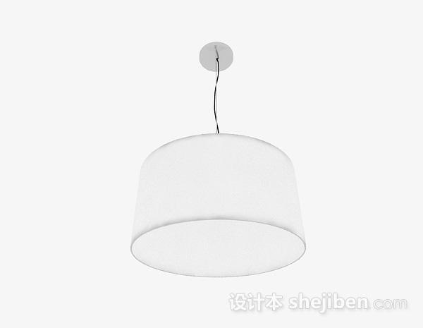 现代风格白色圆筒吊灯