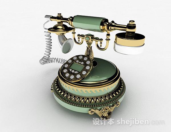 绿色复古电话机