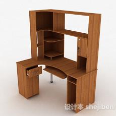 木质书桌3d模型下载