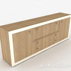棕色木质玄关柜3d模型下载