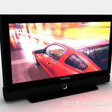 黑色三星电视机3d模型下载