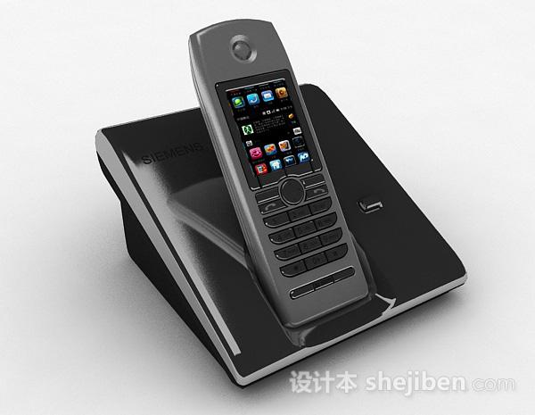 深灰色电话机