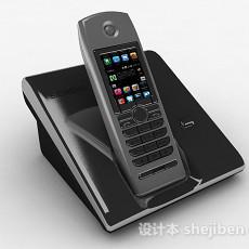 深灰色电话机3d模型下载