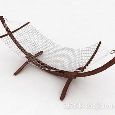 现代风格木质摇椅3d模型下载