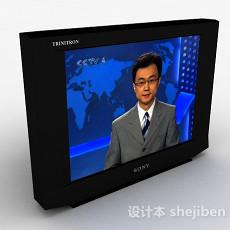 索尼黑色电视机3d模型下载