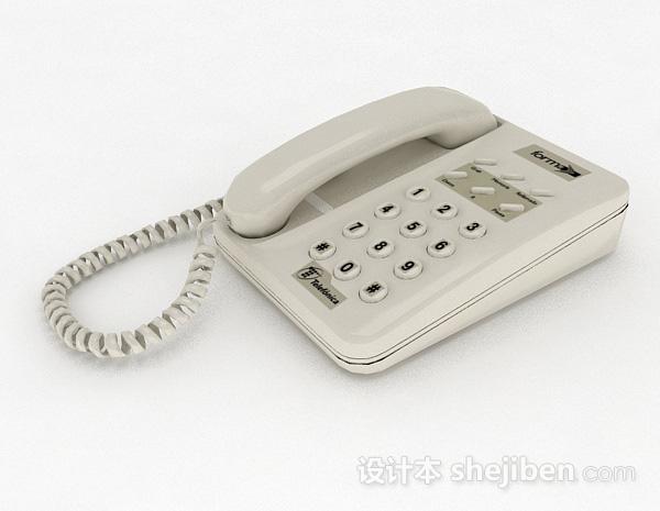 灰色电话机