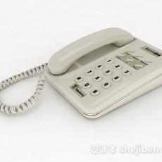 灰色电话机3d模型下载