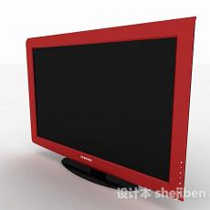 红色三星显示器3d模型下载