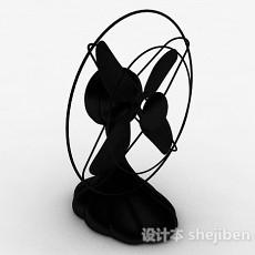 黑色电风扇3d模型下载
