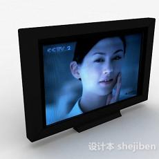 黑色简单电视机3d模型下载