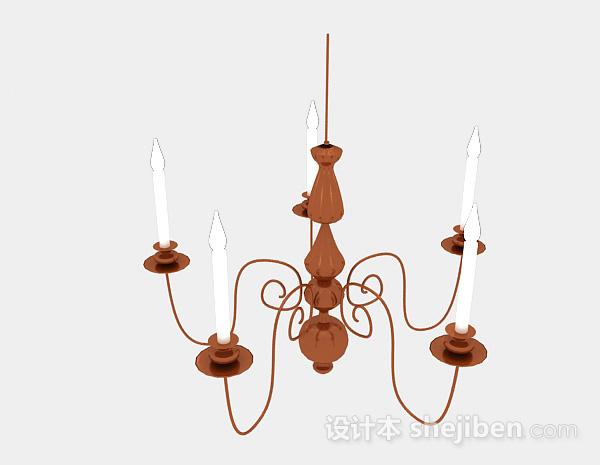 欧式风格金属烛台吊灯
