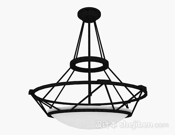 吊灯模型下载_黑色吊灯3d模型下载-设计本3D模型下载