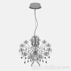 现代风格圆形客厅吊灯3d模型下载