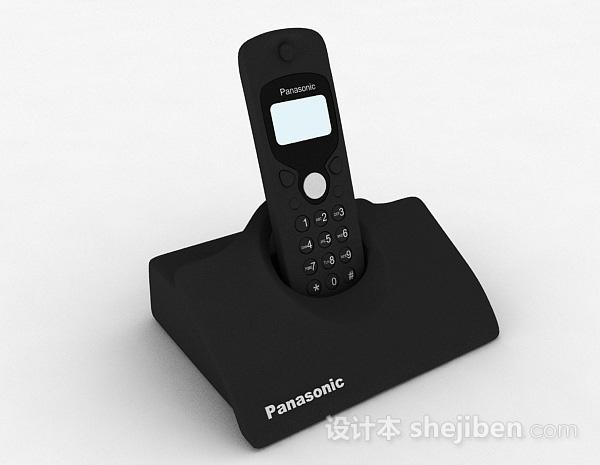 黑色电话机
