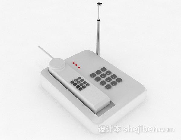 白色电话机
