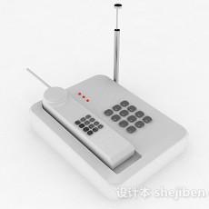 白色电话机3d模型下载