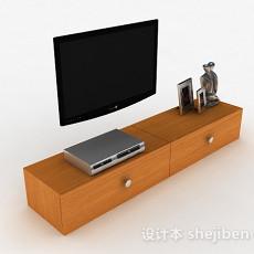 现代风格浅棕色木纹电视柜3d模型下载