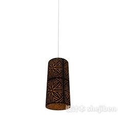 棕色吊灯3d模型下载