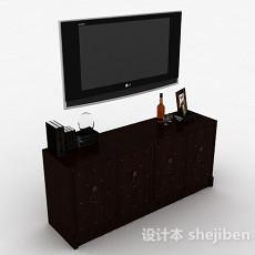 中式风格传统棕色木质电视柜3d模型下载