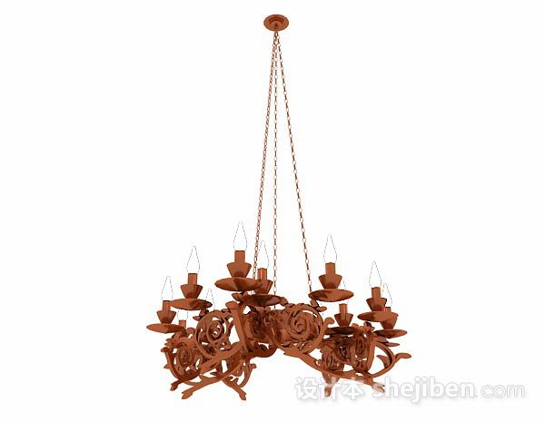欧式金属雕花烛台吊灯