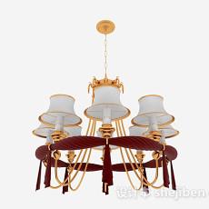 新古典家居吊灯3d模型下载
