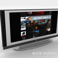 家居立式电视机3d模型下载