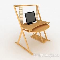 个性电脑书桌3d模型下载