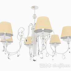欧式古典客厅吊灯3d模型下载