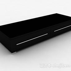 现代风格黑色时尚储物柜3d模型下载