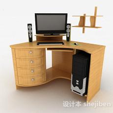 黄色书桌3d模型下载