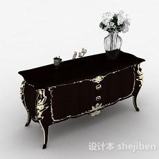 欧式风格雕花木质储物柜3d模型下载