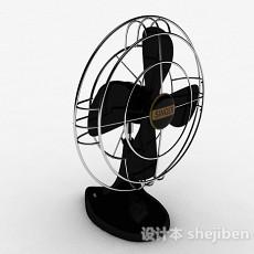 家庭黑色电风扇3d模型下载
