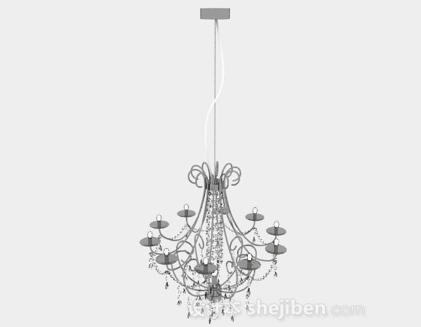欧式风格客厅圆形水晶吊灯