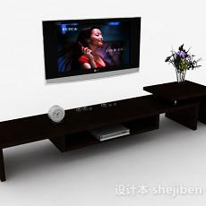 挂壁式液晶电视机3d模型下载