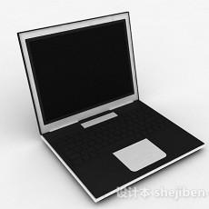 黑色笔记本电脑3d模型下载