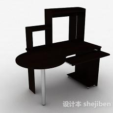 棕色木质书桌3d模型下载