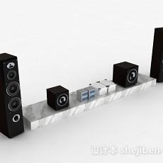 现代风格大理石花纹电视柜3d模型下载