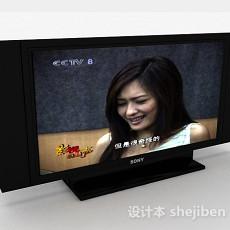 黑色索尼电视机3d模型下载