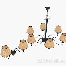 欧式家居吊灯壁灯3d模型下载