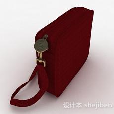 红色手拿钱包3d模型下载