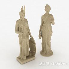 欧式风格欧式仕女雕刻3d模型下载